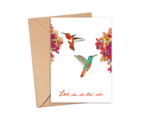 """Love is in the air"" Blank Card"