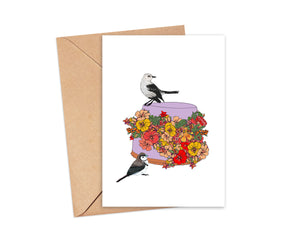 """Keep blooming"" Blank Card"