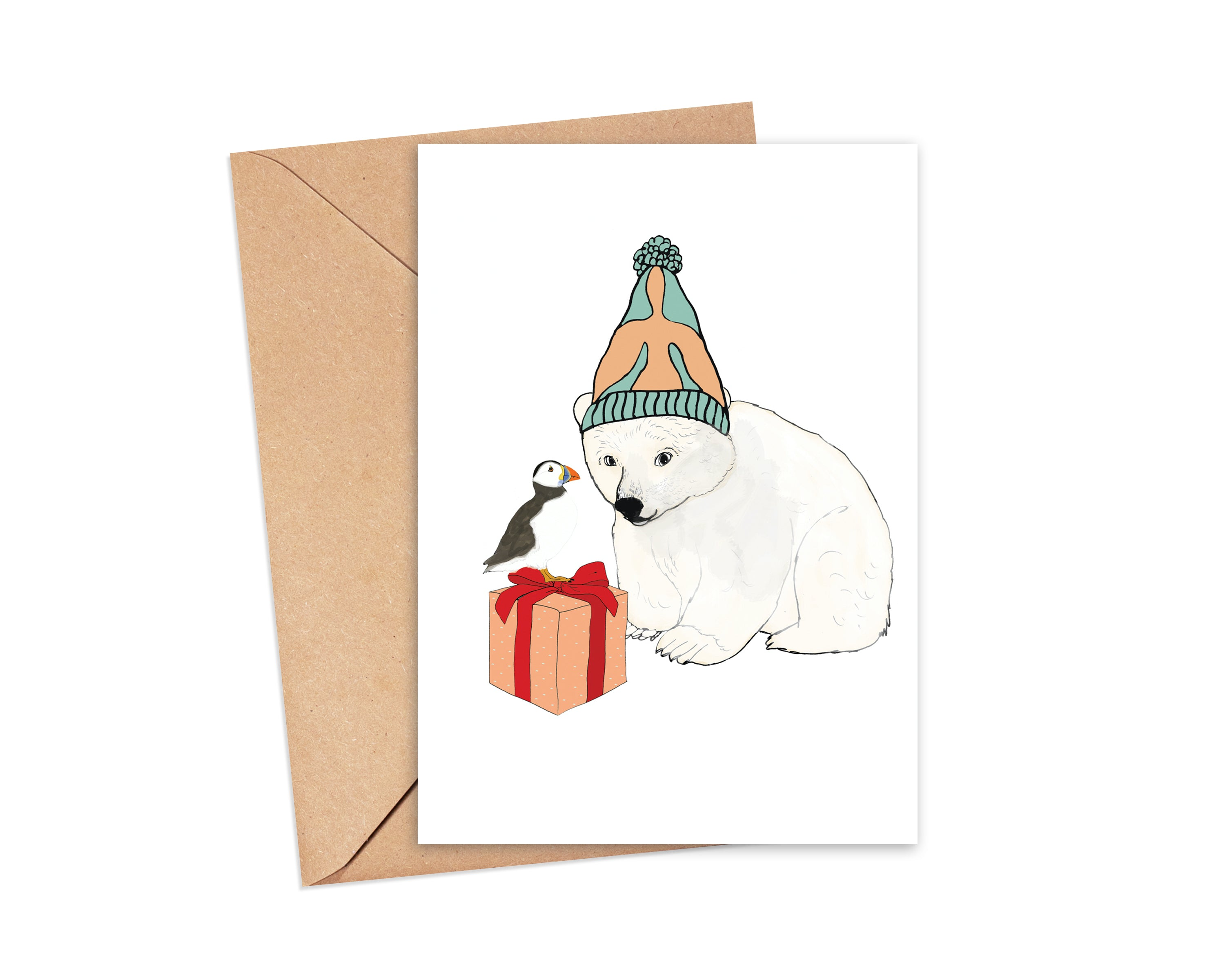 """Warm and Fuzzy"" Blank Card"