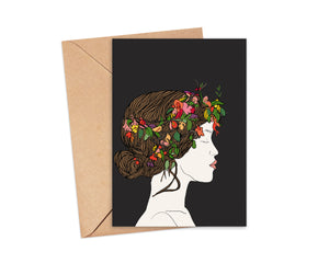 """A Natural Beauty"" Blank Card"