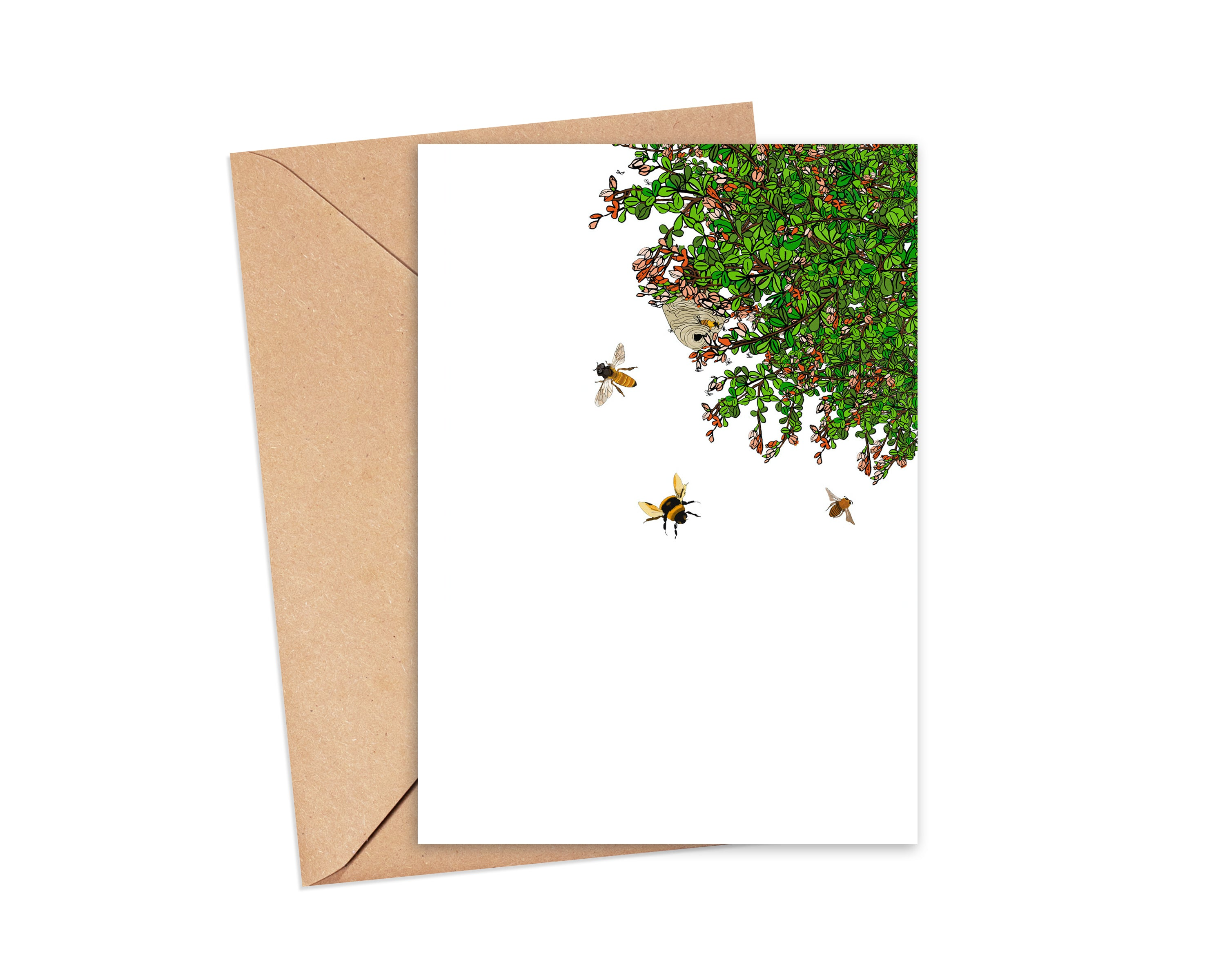 """Thanks for bee-ing you"" Blank Card"