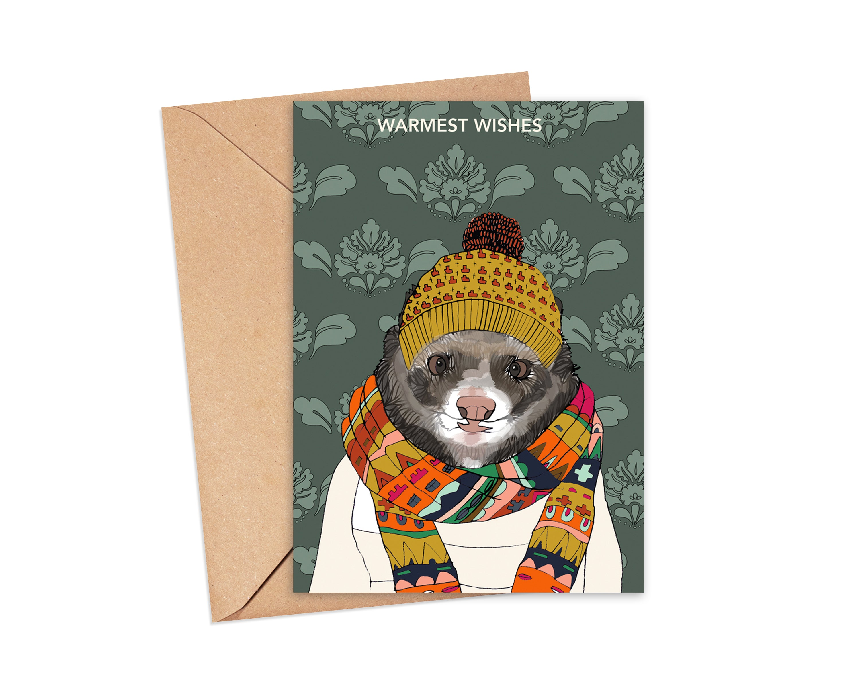 """Warmest Wishes"" Blank Card"
