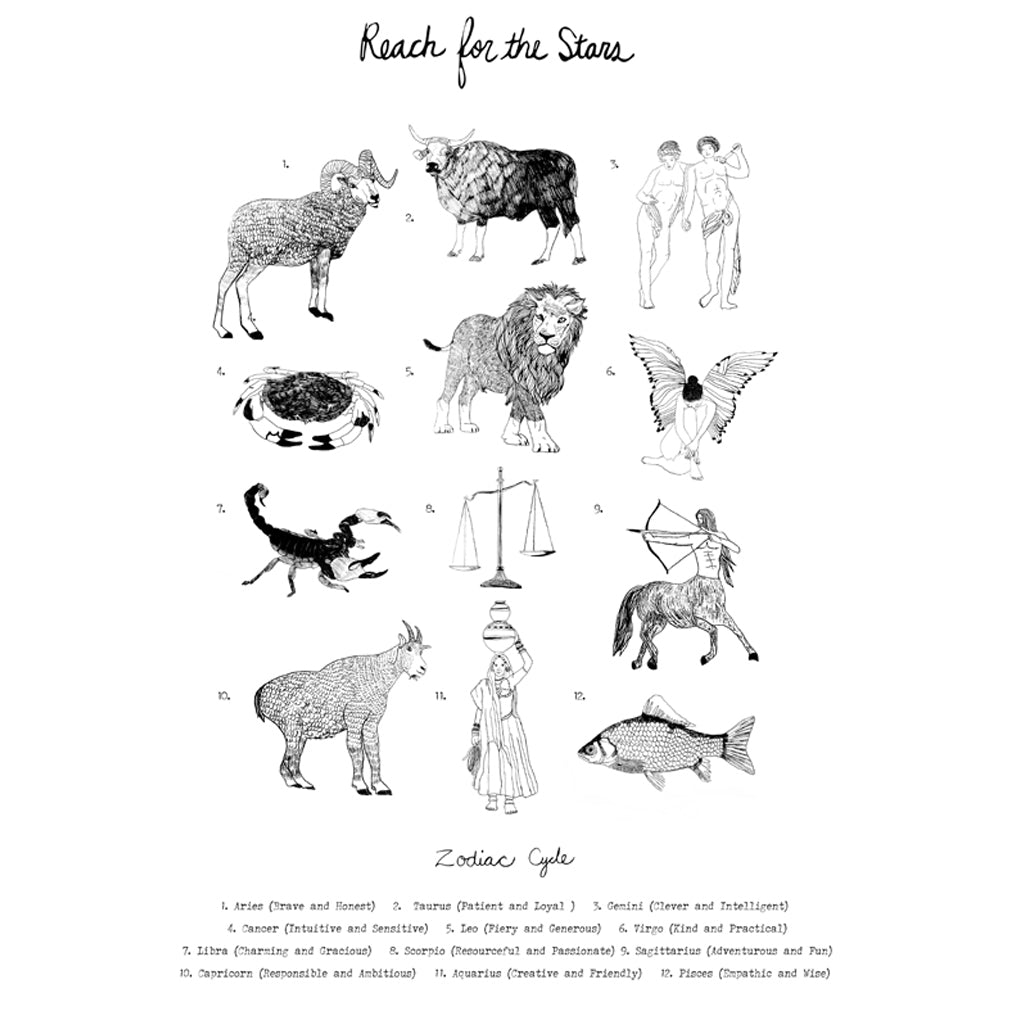 """Reach for the Stars"" Astrology Print"