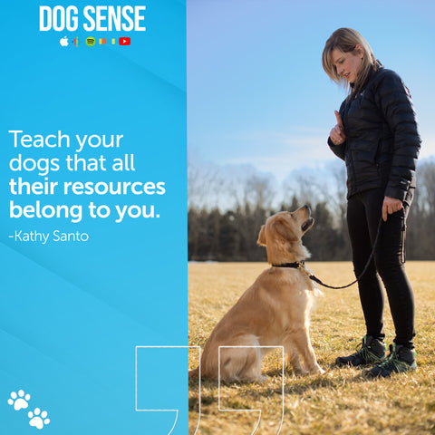 [Quote: Teach your dogs that all their resources belong to you.]