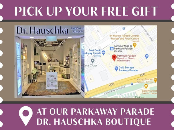 Get your oil free night care gift at Dr Hauschka Parkway Parade