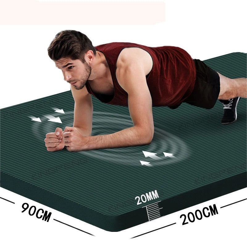 20MM Extra Thicken Non-Slip Fitness / Yoga Mats For Gym Home