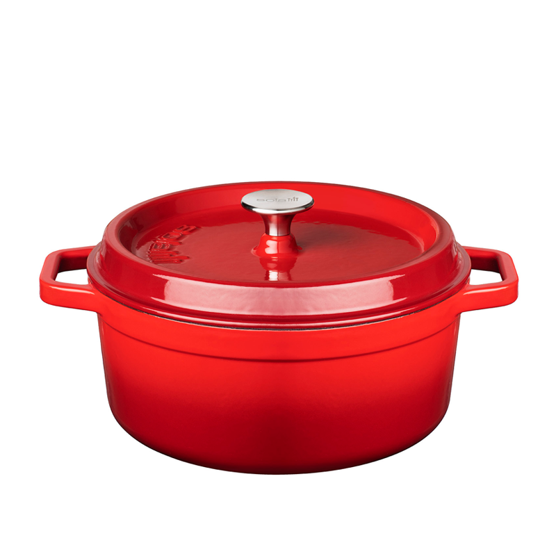 24cm Red Cast Iron Casserole