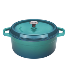 Load image into Gallery viewer, 28cm Petrol Cast Iron Casserole