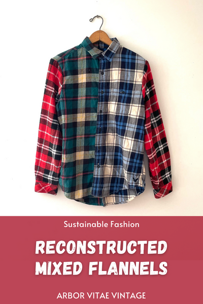 Reconstructed Mixed Flannels Sustainable Fashion Upcycled Projects