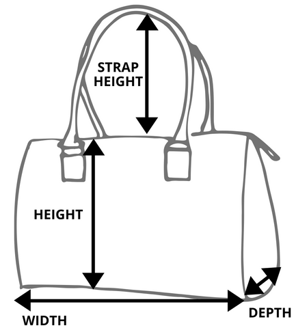 Vintage Handbags Measurement Size Guide