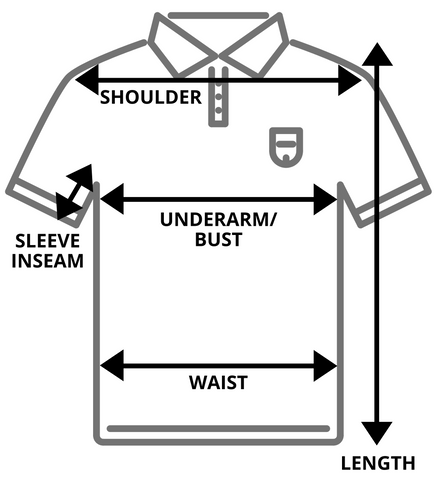 Vintage Shirts Tops Measurement Size Guide