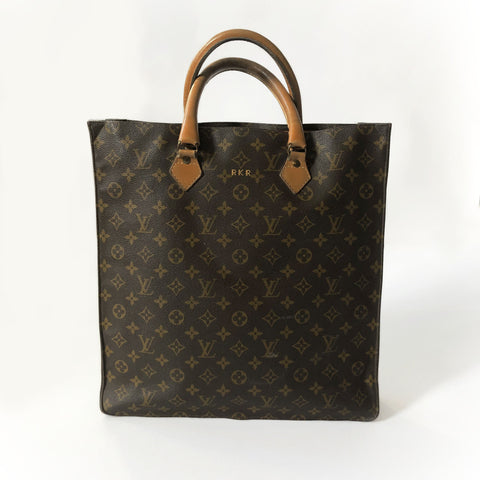70's Brown Monogram Sac Plat