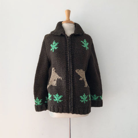 50's Brown Cowichan Sweater