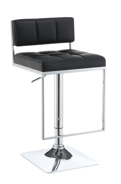 G100194 Contemporary Black Adjustable Bar Stool image