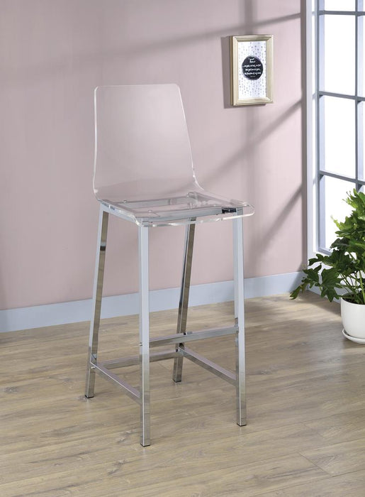 G100295 Contemporary Clear Acrylic Bar Stool image