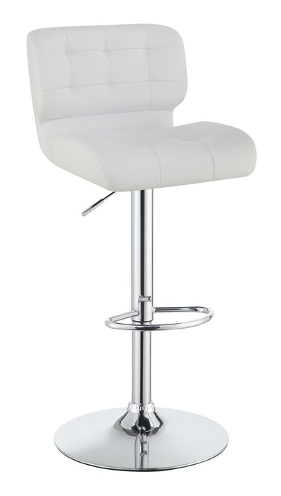 G100546 Contemporary White Upholstered Bar Stool image