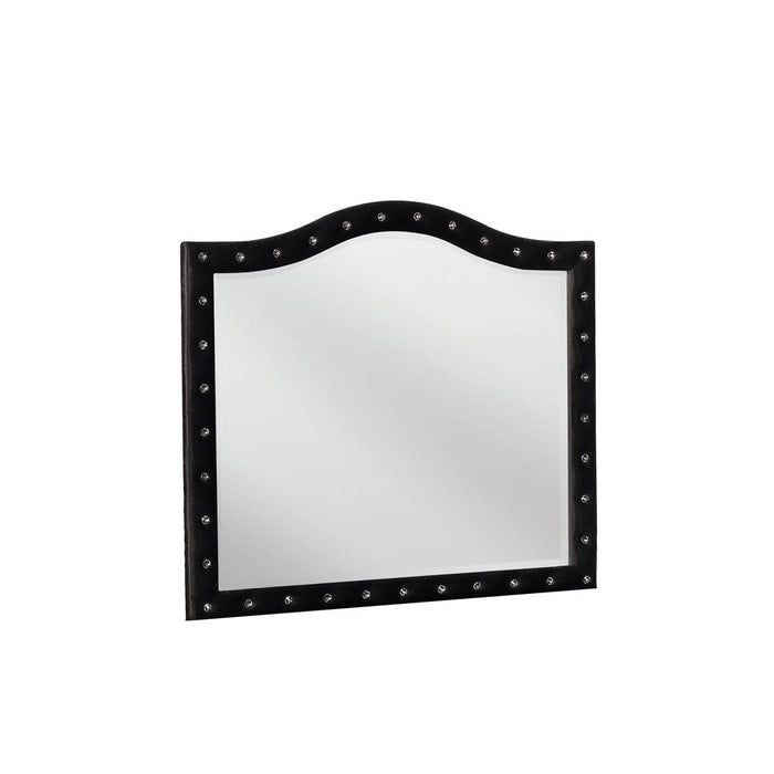 Deanna Contemporary Black and Metallic Mirror image