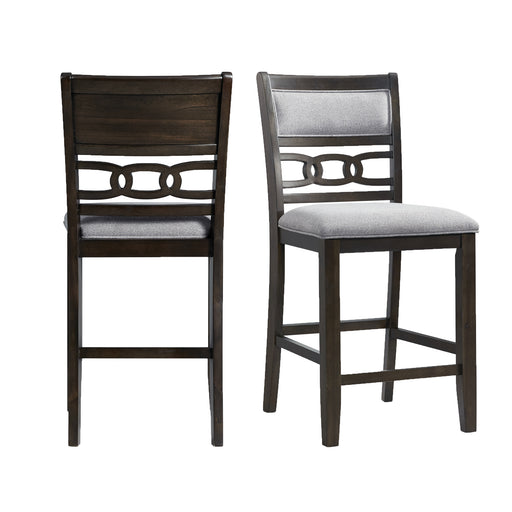 Amherst Counter Height Side Chair Set in Walnut of 2 image