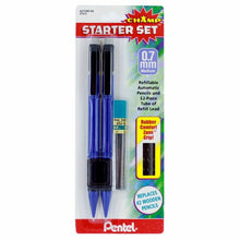 Load image into Gallery viewer, 2-Pack Pentel Champ Mechanical Pencil 0.7mm Refillable Starter Set + Refills