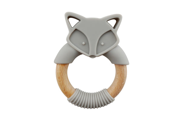 ↟ Fox Silicone and Wood Ring ↟