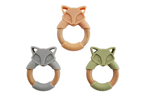 Fox Silicone and Wood Ring