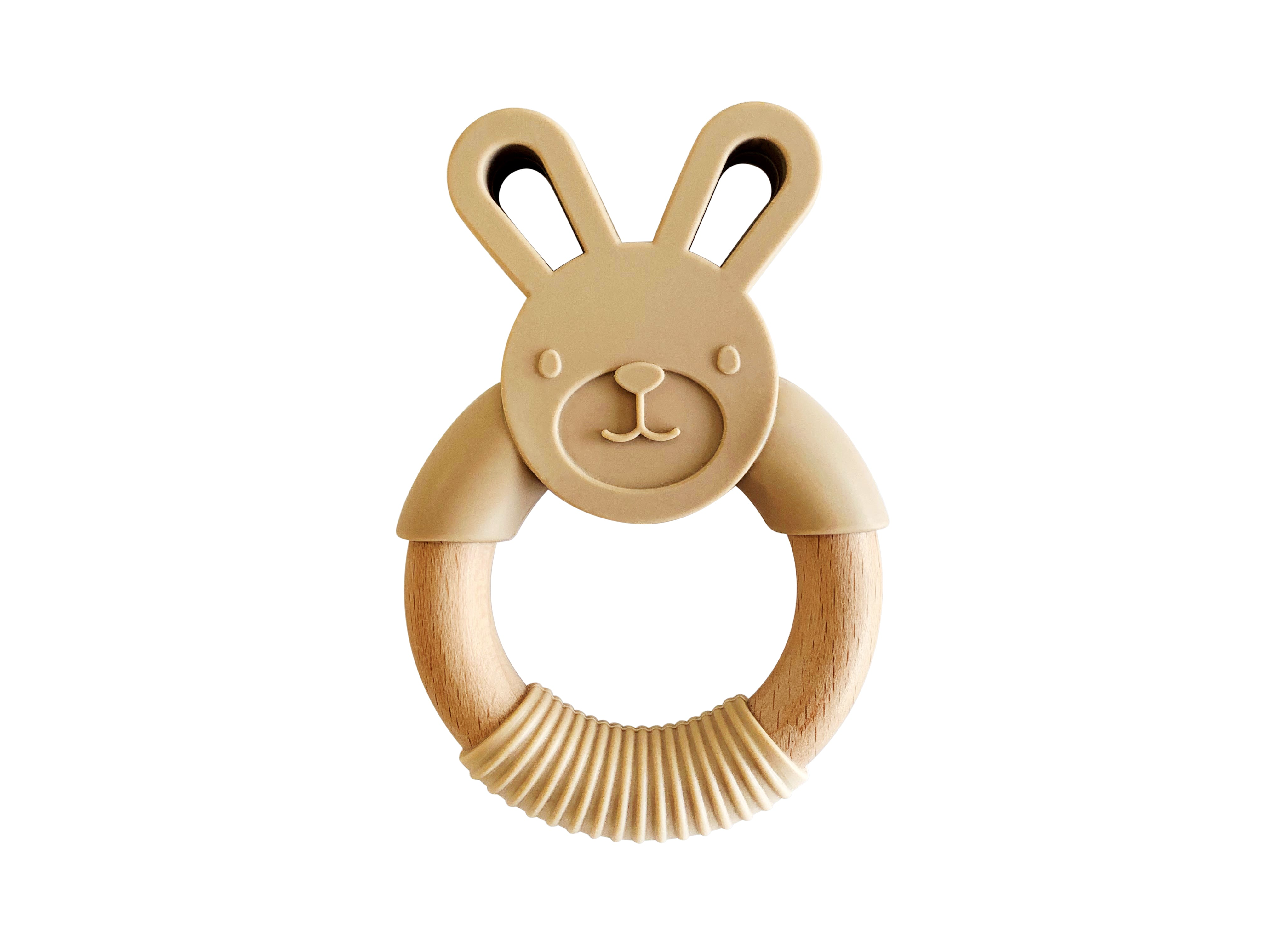 Bunny Silicone and Wood Ring
