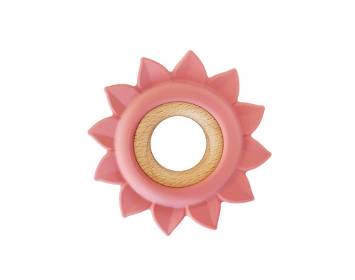 Flower Teether: Wood + Silicone