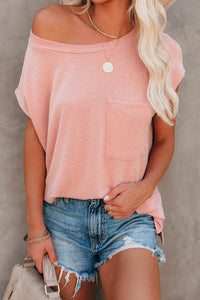 Pink Pocketed Tee