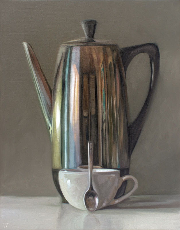 Percolator, Cup and Spoon