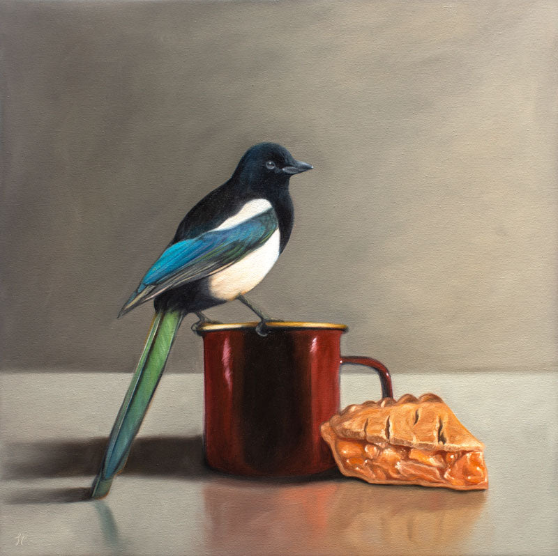 Magpie, Apple Pie, and Coffee