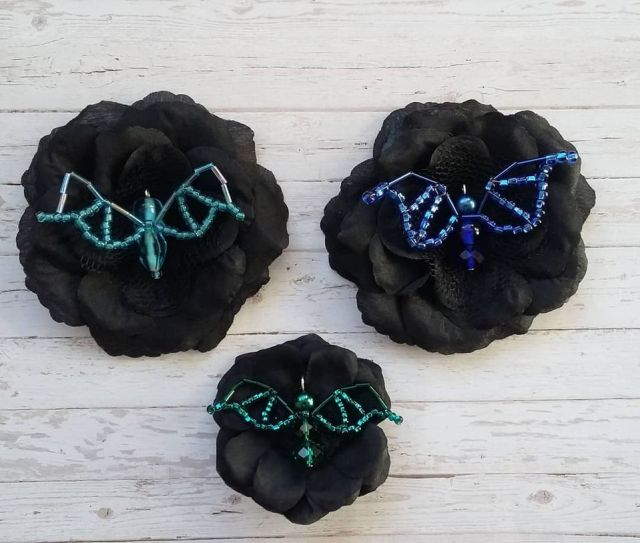 Baby Bat Brooches by Gothic Diva Designs