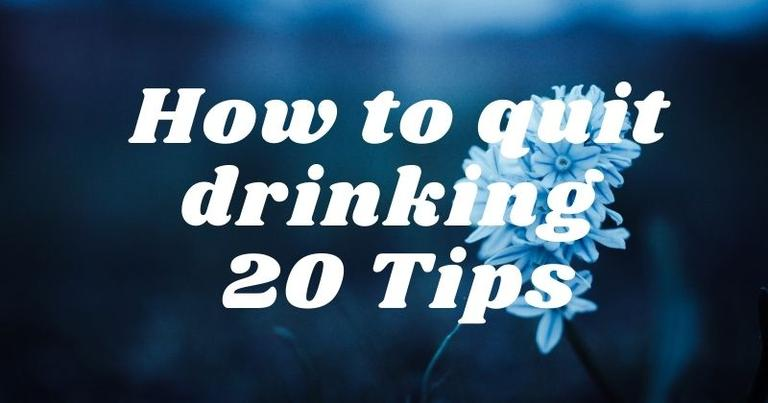How to quit drinking cold turkey