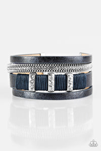 Paparazzi Bracelet - FAME Night - Blue