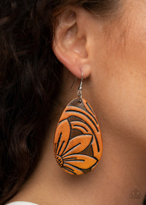 Paparazzi Earring -Garden Therapy - Brown