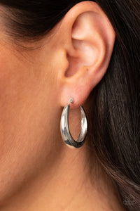 Paparazzi Earring -Lay It On Thick - Silver
