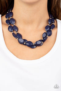 Paparazzi Necklace - Two-Story Stunner - Blue