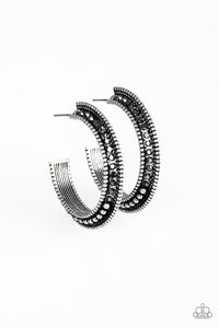Paparazzi Earring -Retro Reverberation - Silver