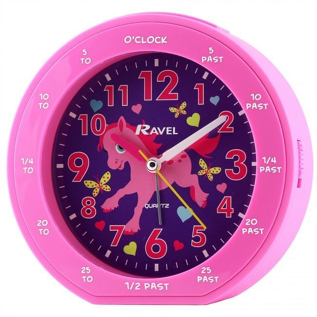 Ravels Time Teacher Kids Clock Purple