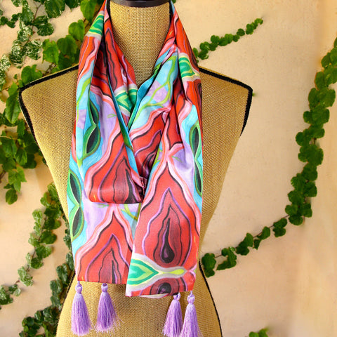 Silk Art Scarf - Ode to Georgia