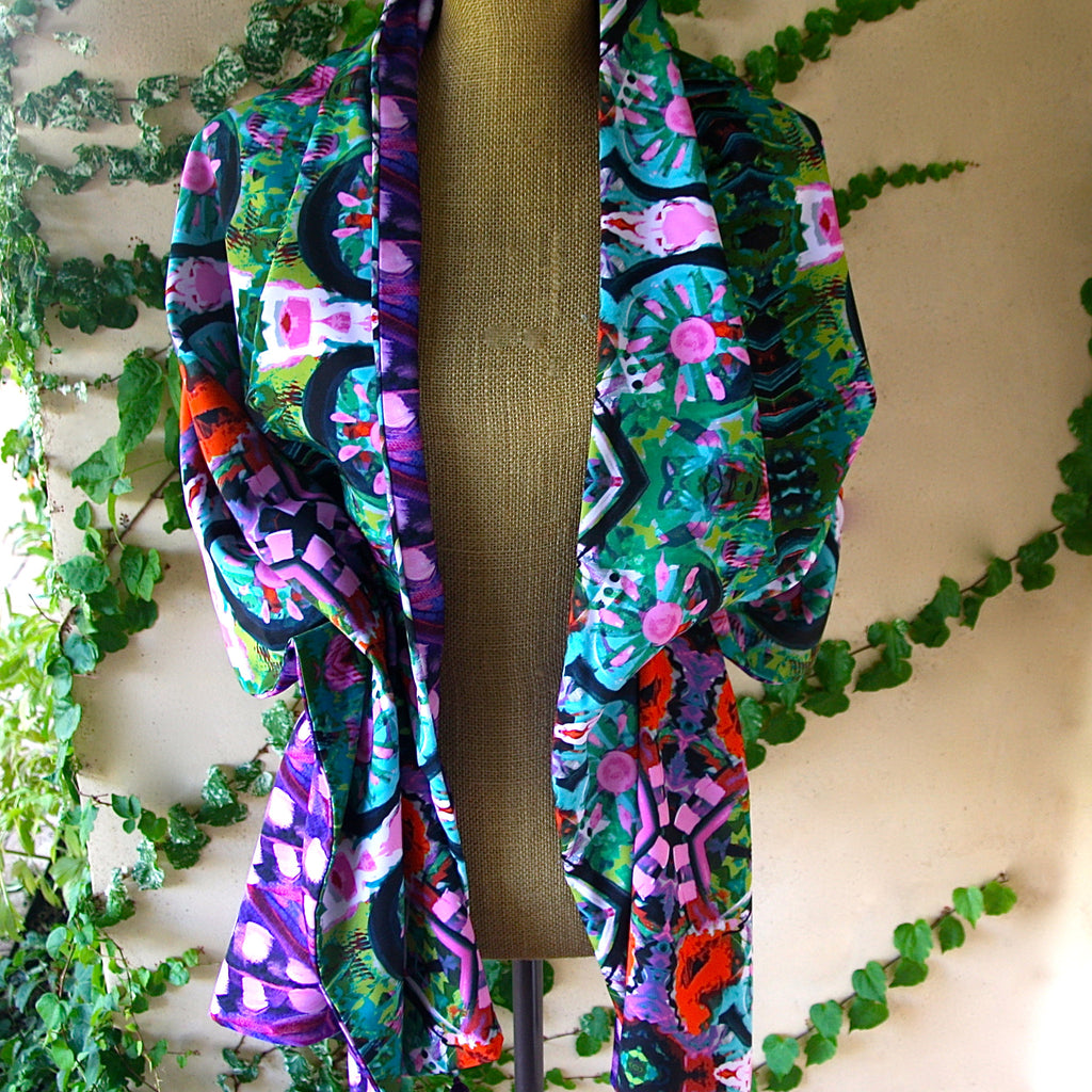 Silk Reversible Wrap - Merida