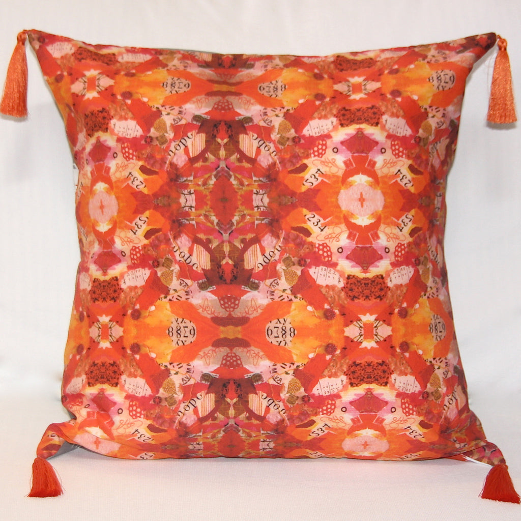 Terra Cotta Collage Pillow
