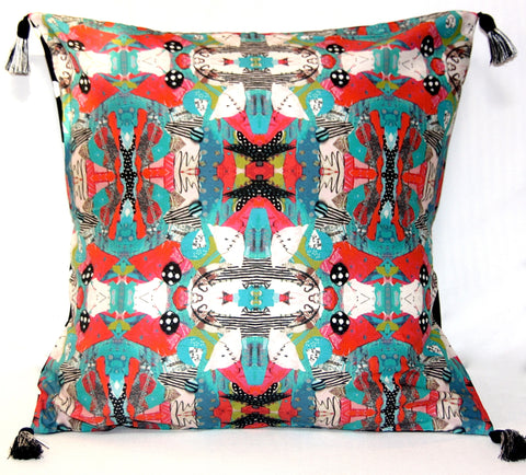 Pillow - Turquoise Bird