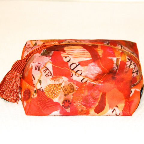 Terra Cotta Collage Zip Pouch