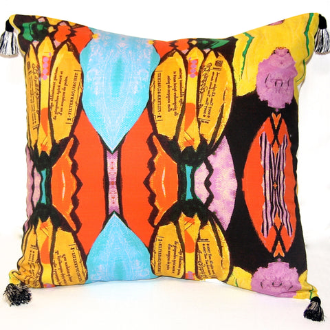 Ginger Tulip Reversible Pillow