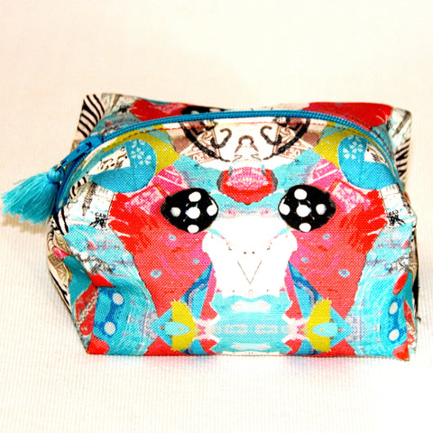 Turquoise Bird Zip Pouch