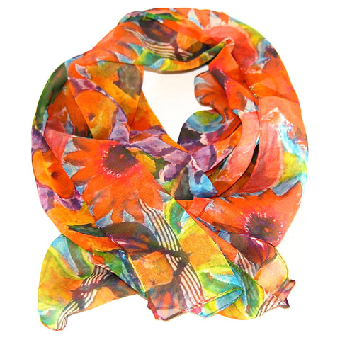 Crazy Daisy Autumn Scarf