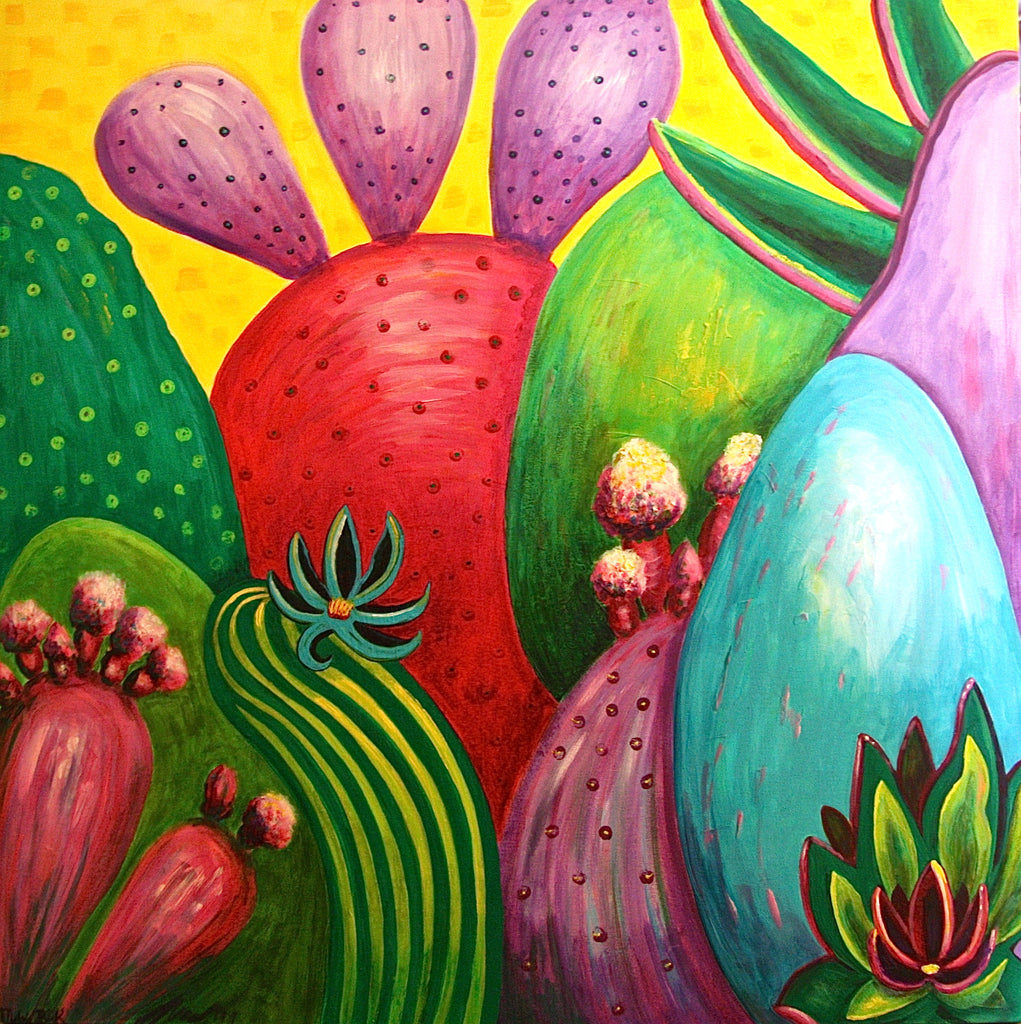 Painting - Cacti in Conversation