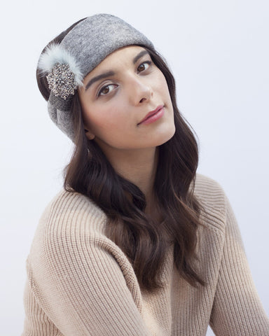 Grey Winter Headband