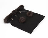 Black Winter Scarf Neckwarmer