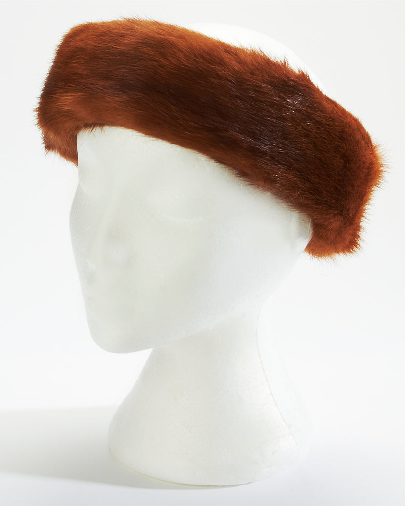 Pumpkin Mink Fur Headband